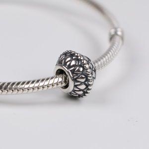 Authentic PANDORA Sterling Silver Dandelion Charm